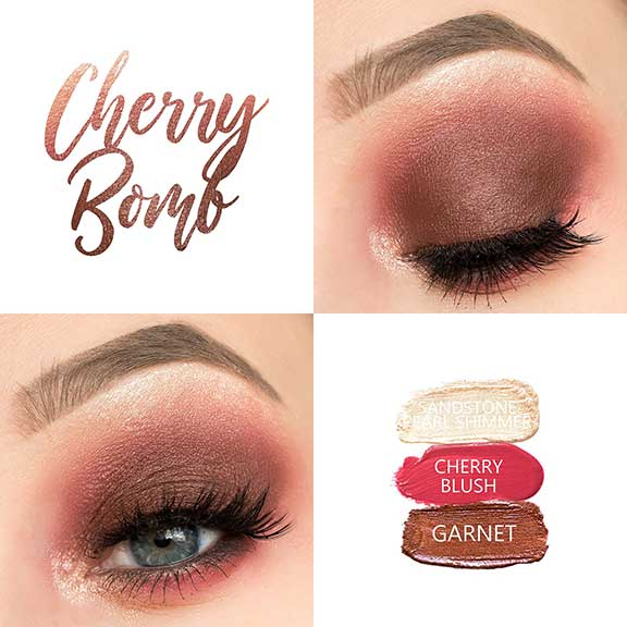 Bold red eye look