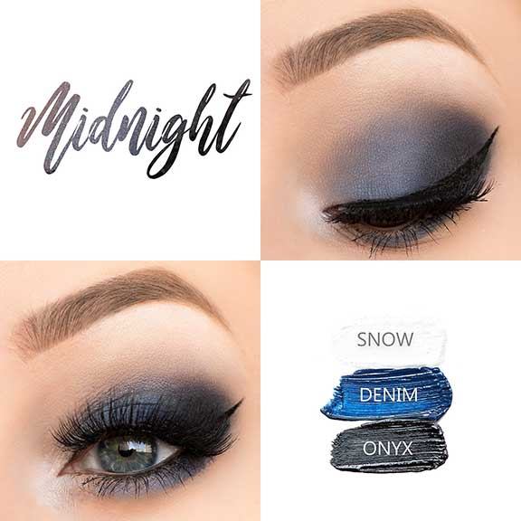 Dramatic night eye look