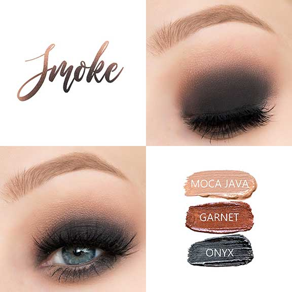 Dark and dramatic eye look
